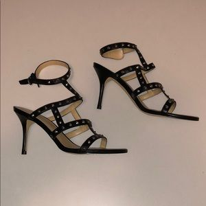 Ivanka Trump Ankle Strap Studded Sandal High Heels